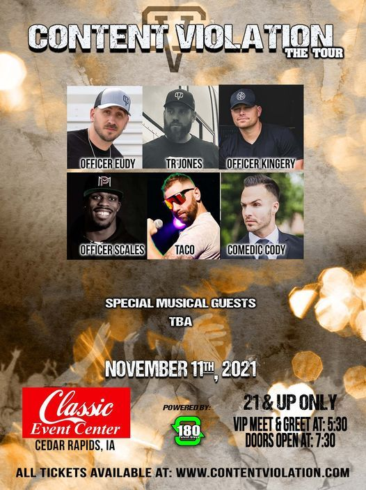 """Content Violation """"The Tour"""" at Classic Event Center, 11 November   Event in Cedar Rapids   AllEvents.in"""