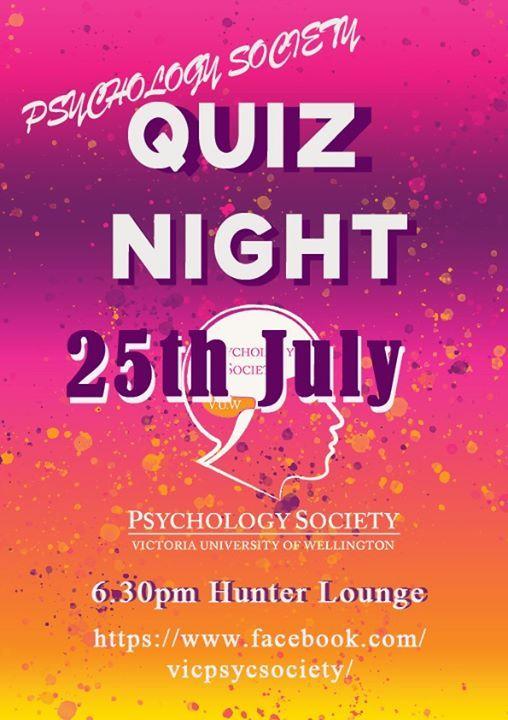 Quiz Night: VUW Psychology Society at The Hunter Lounge, Wellington