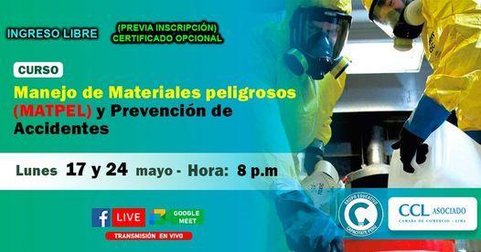 Curso Gratuito: Manejo de materiales peligrosos (MATPEL) y prevención de accidentes, 17 May | Event in Lince