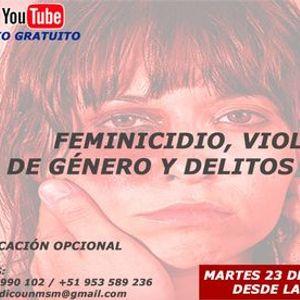 SEMINARIO FEMINICIDIO VIOLENCIA DE GENERO Y DELITOS SEXUALES