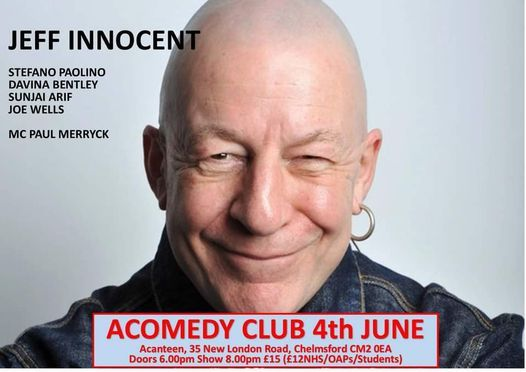 AComedy Club 4th June 2021, 4 June | Event in Chelmsford | AllEvents.in