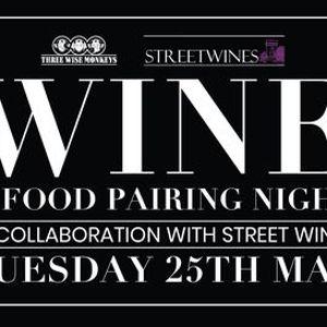 Wine & Food Pairing Night at Three Wise Monkeys