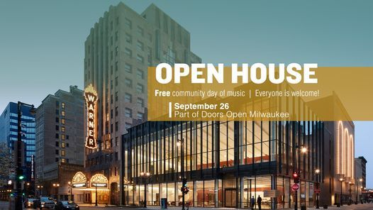 Open House - Free Community Day of Music, 26 September | Event in Cudahy | AllEvents.in