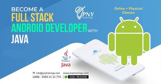 Become A Full Stack Android Developer With JAVA, 3 November | Event in Lahore | AllEvents.in