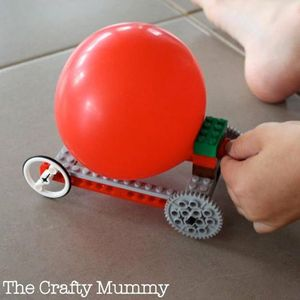 Make & Take Balloon Powered Lego Car