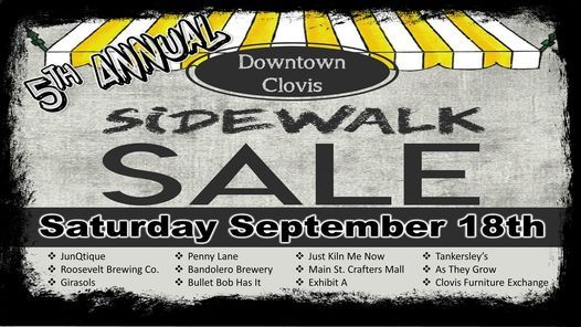 5th Annual Downtown Sidewalk Sale