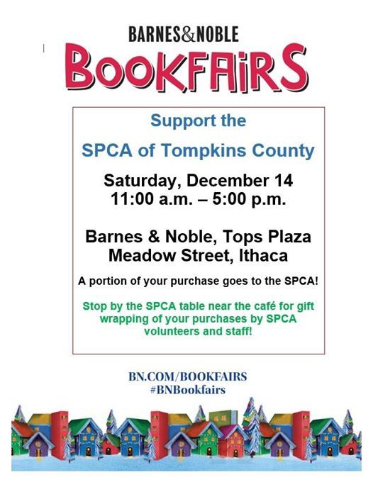 Barnes Noble Bookfair To Support The Spca Of Tompkins