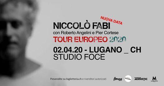 Niccol Fabi  Studio Foce - Lugano - Nuova Data