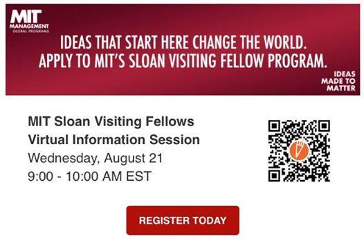 MIT Sloan Visiting Fellows Webinar | Cambridge