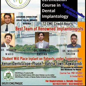 6 Months Course In Dental Implantology