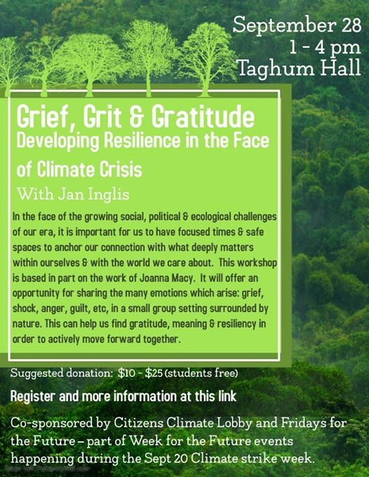 Grief Grit & Gratitude - Developing Climate Change Resilience