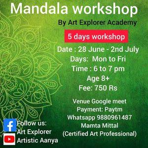 Mandala Art workshop ( 5 Days)