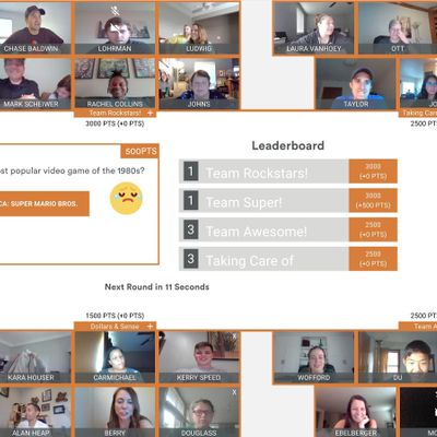 Duluth Virtual Game Night Trivia Charades and Drawing over Video