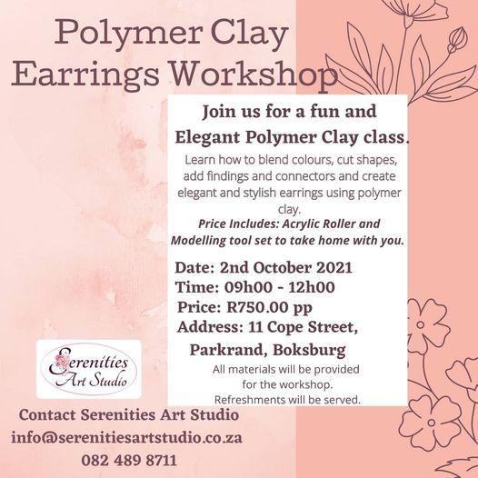 Polymer Clay Earring Workshop, 2 October | Event in Boksburg | AllEvents.in
