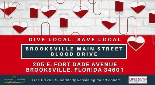 Brooksville Main Street Blood Drive, 26 February | Event in Brooksville | AllEvents.in