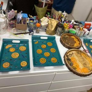 Resin Art and Craft Workshop By Pooja D Gupta through Zoom