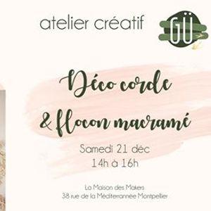 Atelier cratif dco macram et flocon