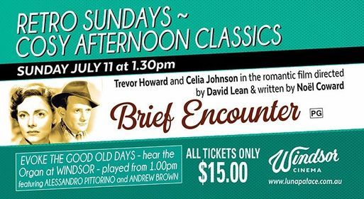 Retro Sundays: Brief Encounter, 11 July | Event in Perth | AllEvents.in