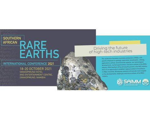 Southern African Rare Earths International Conference 2021, 18 October | Event in Sandton | AllEvents.in