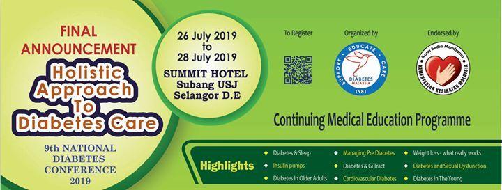 9th National Diabetes Conference 2019 at Summit Hotel Subang USJ