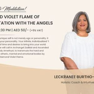 OnlineOnsite Meditation Cosmic Diamond Violet Flame Of Transmutation Meditation With The Angels