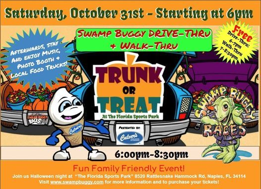Swamp Buggy Drive-Thru/Walk-Thru Trunk or Treat presented by Culver's, 31 October   Event in Naples   AllEvents.in