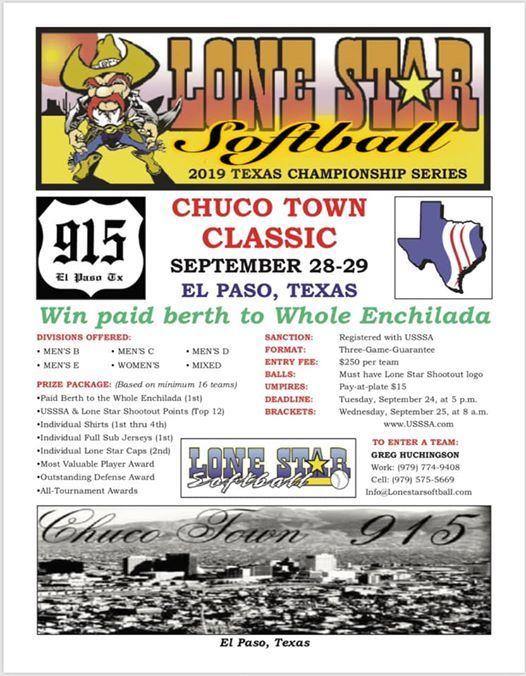 Lone Star Softball's Chuco Town Classic Adult Softball at El
