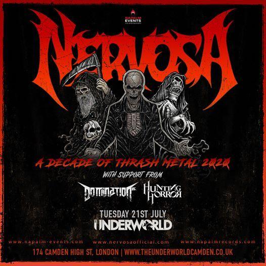 Nervosa Domination Inc. & Hunting Horror at The Underworld