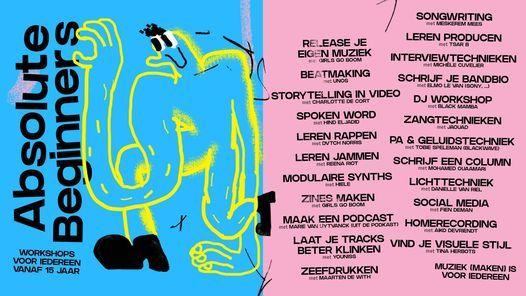 Absolute Beginners: een zomer vol workshops, 7 July | Event in Antwerp | AllEvents.in