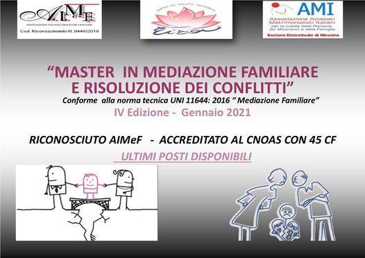Master Mediazione Familiare e risoluzione conflitti