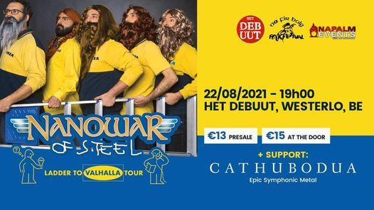 Nanowar Of Steel - Cathubodua !New Date!, 22 August   Event in Westerlo   AllEvents.in