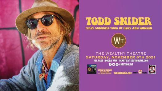 Todd Snider - First Agnostic Tour of Hope and Wonder, 6 November | Event in Grand Rapids | AllEvents.in