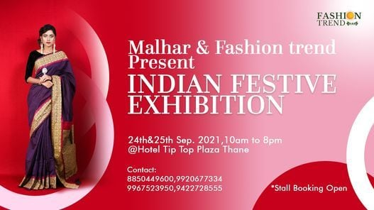 Indian Festive Exhibition by Fashion Trend & Malhar, 24 September   Event in Mumbai   AllEvents.in
