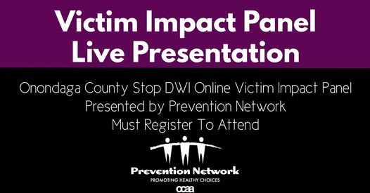 Victim Impact Panel-REGISTER HERE, 5 November | Event in Syracuse | AllEvents.in