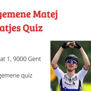 1e Algemene Matej Matjes Quiz