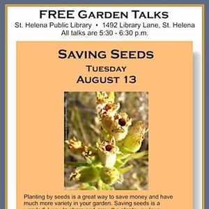 Saving Seeds - St Helena Library Talk