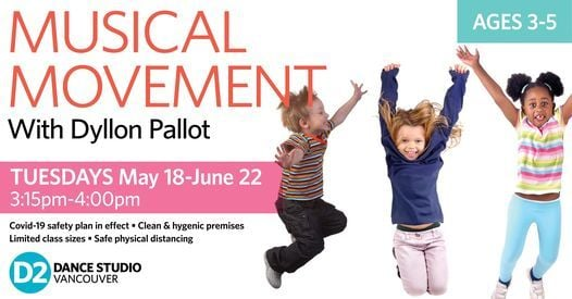 Musical Movement Classes for Kids (Ages 3-5), 18 May | Event in Vancouver | AllEvents.in