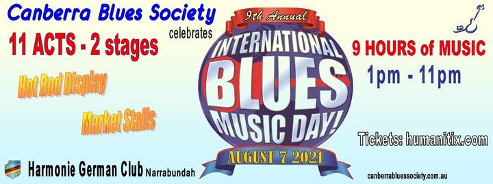 CBS celebrates International Blues Music Day 2021, 7 August | Event in Canberra | AllEvents.in
