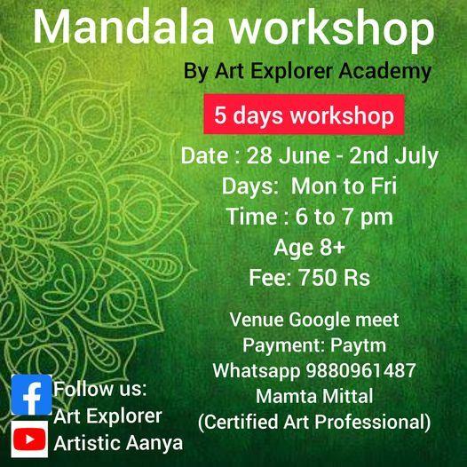 Mandala Art workshop ( 5 Days), 28 June | Online Event | AllEvents.in