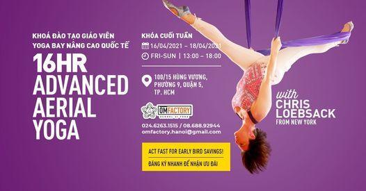 16hr - Khóa Đào tạo Giáo Viên Yoga Bay Nâng Cao Quốc Tế - Advanced Aerial Yoga, 16 April | AllEvents.in