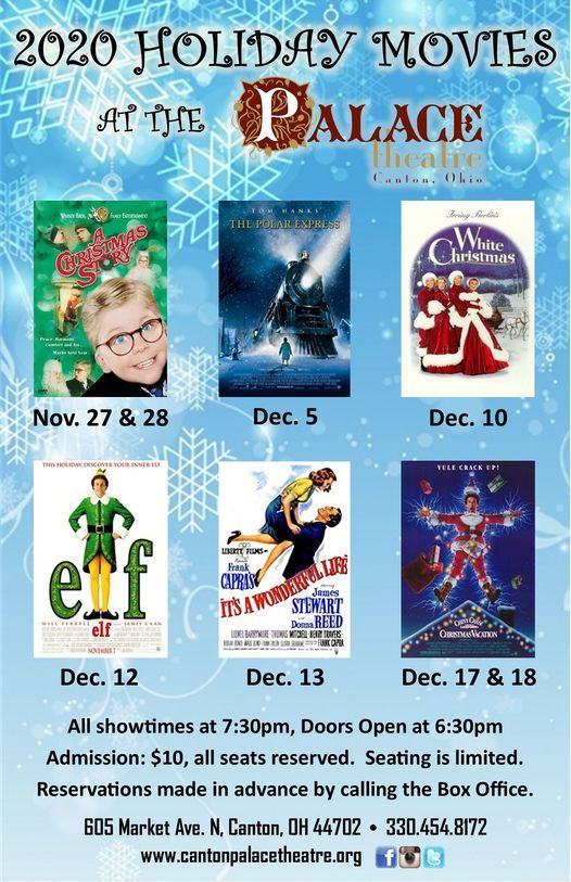 2020 Holiday Movies at the Canton Palace Theatre, Canton Palace