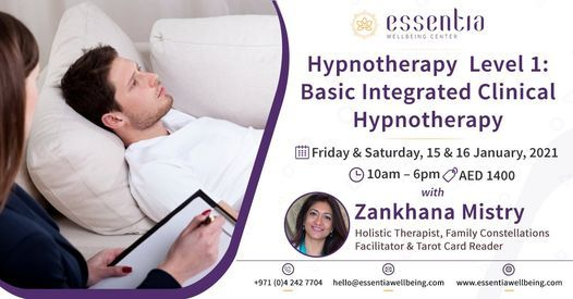 Hypnotherapy Level 1: Basic Integrated Clinical Hypnotherapy   Event in Dubai   AllEvents.in