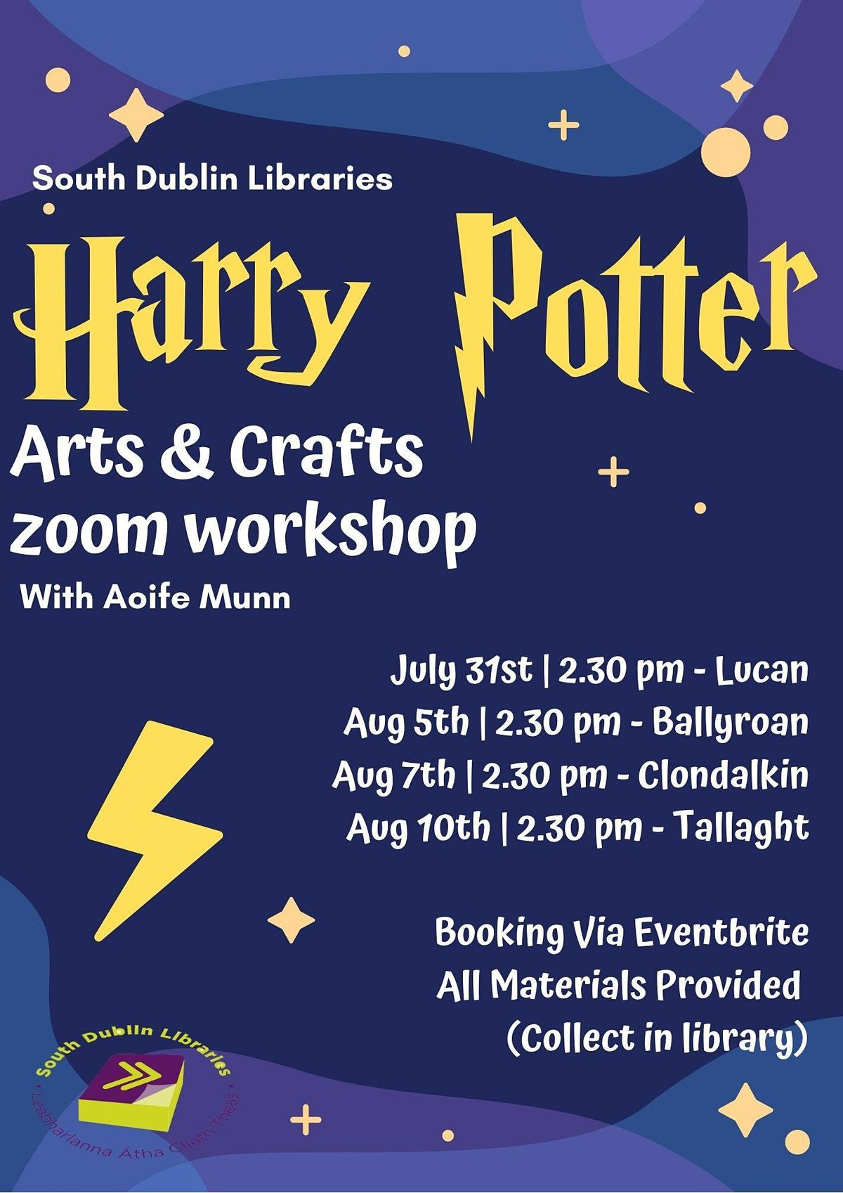 Harry Potter Arts And Crafts Via Zoom Age 7 11 10 August 2020 Online Events