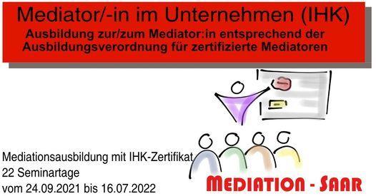 Mediator/-in im Unternehmen (IHK) | Event in Saarbrücken | AllEvents.in