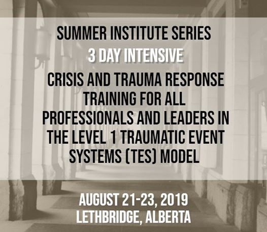 Summer Institute Series 3 Day Intensive Traumatic Event Systems