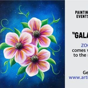 Galaxy Blossoms - Paint Night on Zoom