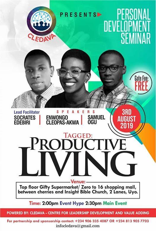 PRODUCTIVE LIVING CONFERENCE at Uyo, Uyo
