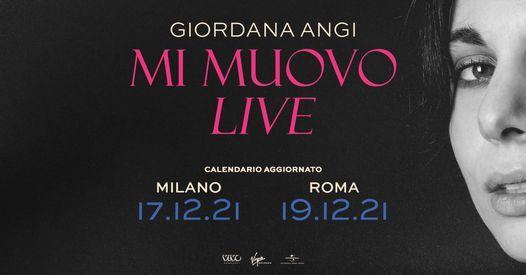 Giordana Angi in concerto a Roma, 19 December   Event in Rome   AllEvents.in