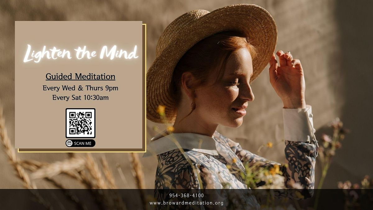 Free Guided Meditation Experience - Lighten the Mind   Online Event   AllEvents.in