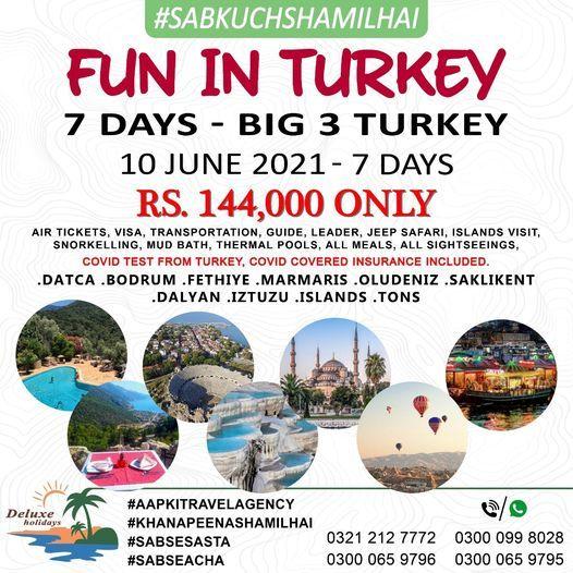 *FUN IN TURKEY Tour Plan of Turkey 7 Days of Big 3*, 10 September | Event in Karachi | AllEvents.in
